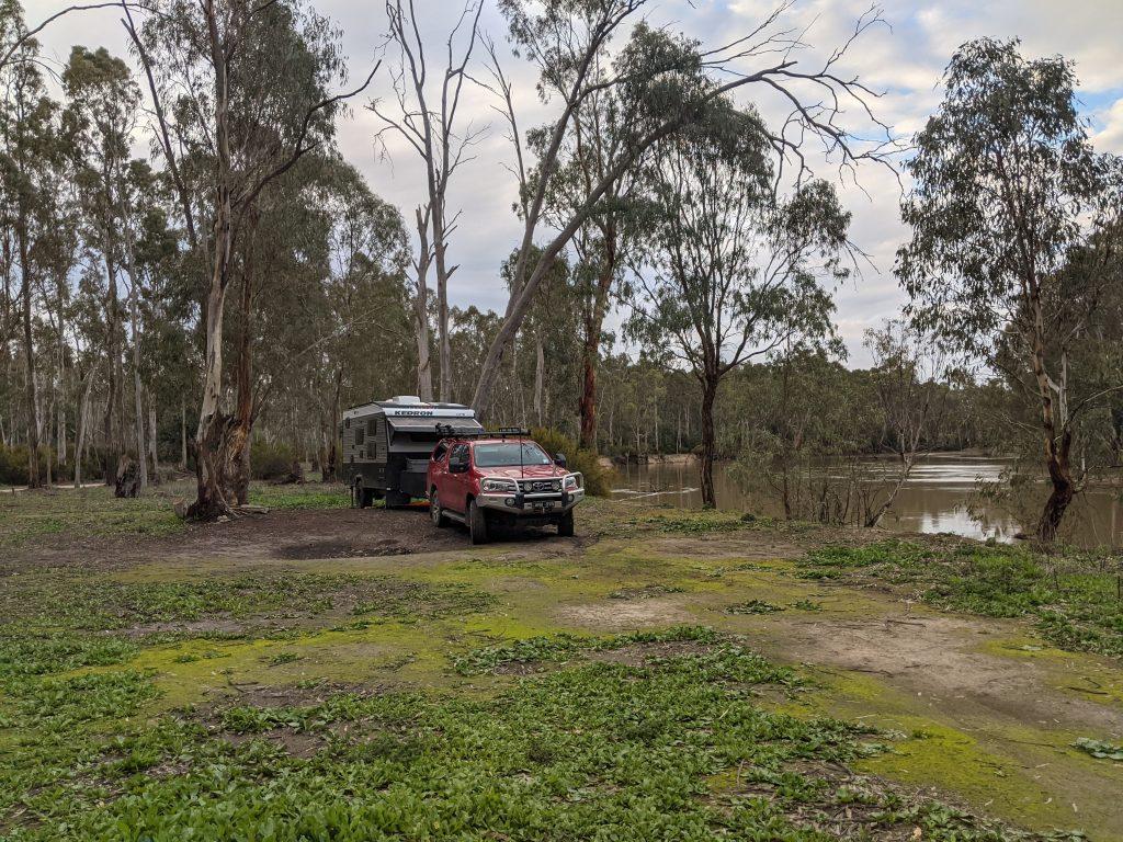 Campsite at Gunbower Island, River Murray